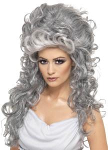 perruque sorciere grise